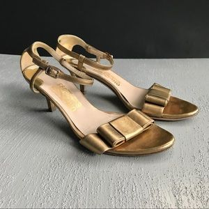 Salvatore Ferragamo Bow Kitten Sandals Sz 7.5 B